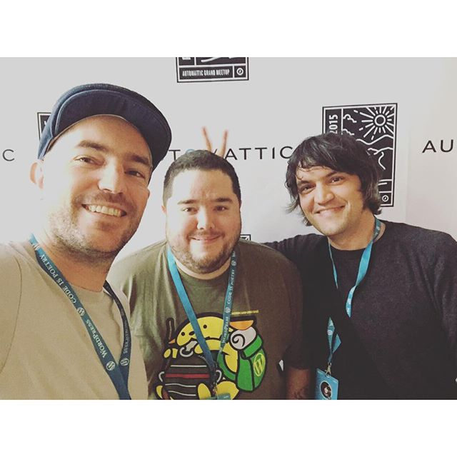 At the #a8cgm selfie station with Javi and Miguel. #mercury