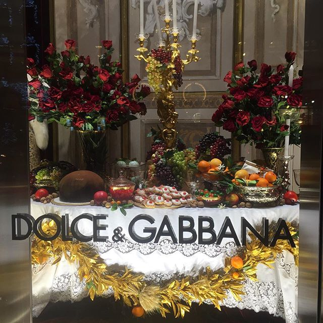 One of the holiday window displays on 5th avenue.