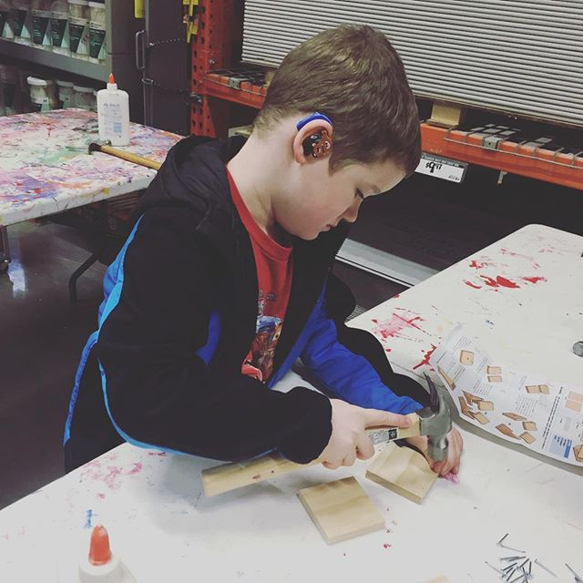 Brought Hero to the Home Depot kids workshop.