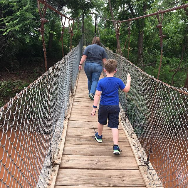 Lucy park swinging bridge.