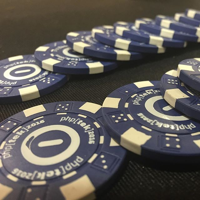 Don't forget to come and get your #automattic poker chip at #phptek!