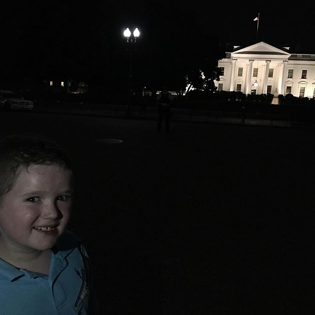 Took the kid to see The White House last night. Wasn't very easy to get lighting on his face at night. 😄