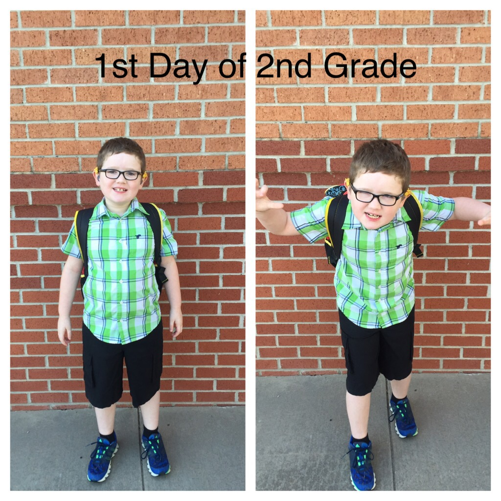 Hero's first day of second grade