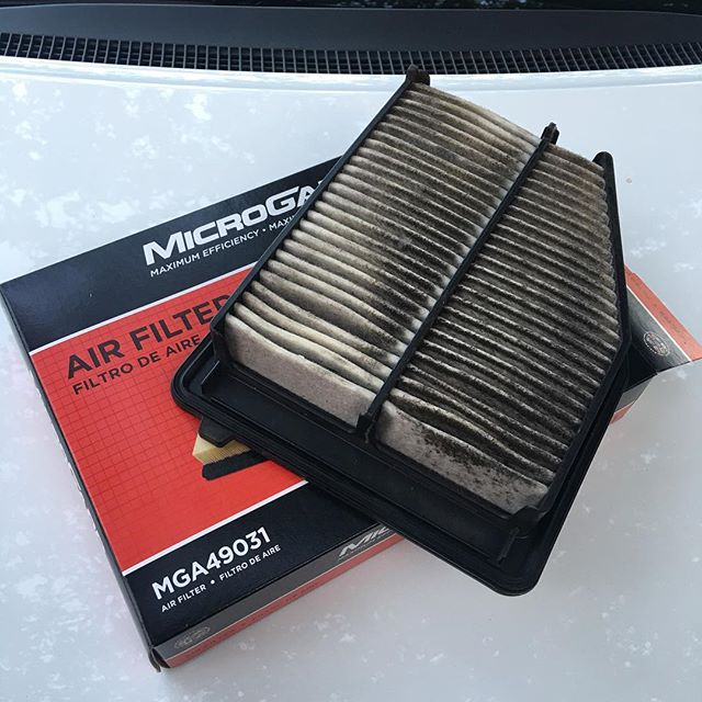 It was time. Also, today I learned that replacing a Honda air filter is way quicker and easier than replacing a Jeep air filter. 😄