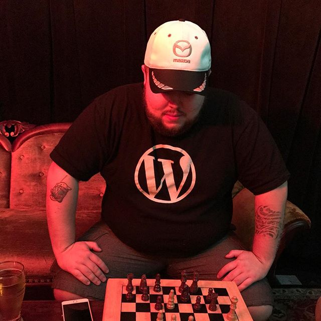 Getting whooped in chess by @dsmartyparty. #travelmattic