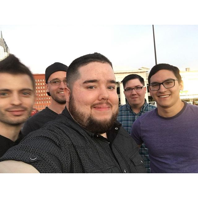 Pre-gambling bachelor party selfie