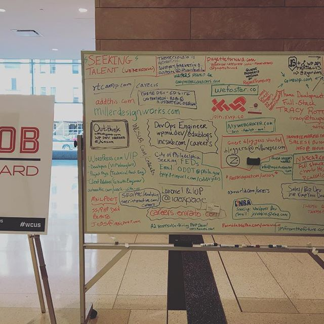 If you're looking for cool places to work with #wordpress, the #wcus jobs board seems packed! Also, Automattic.com/work-with-us