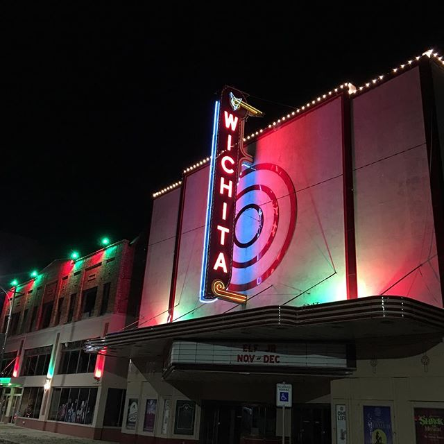 I was driving downtown and saw the lights on at the Wichita Theatre