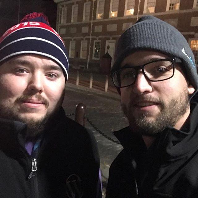 @gymshortmechanic and I near Independence Hall last night.