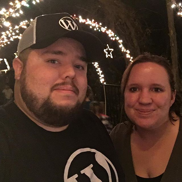Swagged out in #wordpress gear with the wife at Fantasy of Lights.
