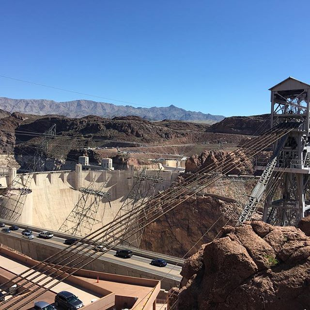 This was a pretty cool view of the Hoover Dam.