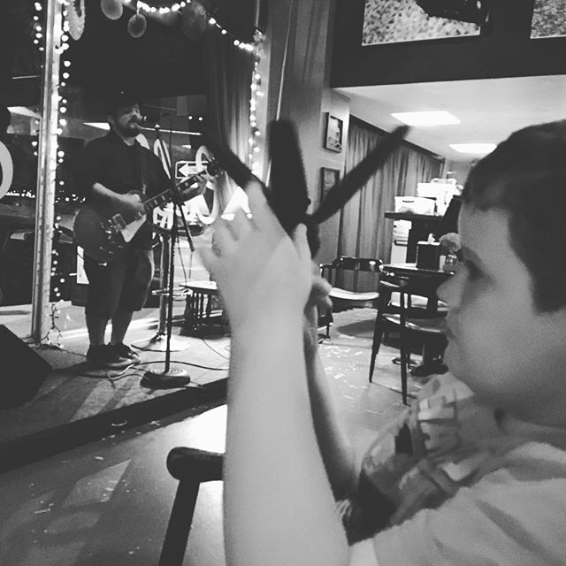 Brought the kids to 8th street coffee house for snacks, coffee, and music.