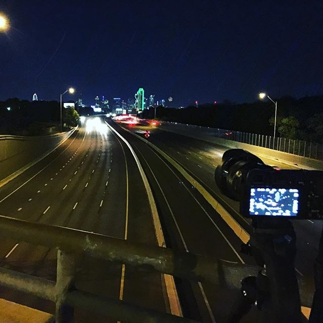 Played around tonight while in Dallas, and tried to get some car light trails and the Dallas skyline from the north edgefield avenue bridge.