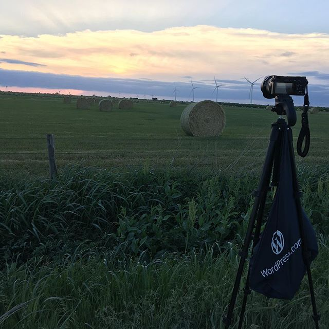 Got a picture from where I setup my camera last night. I wish the clouds weren't covering the sun.