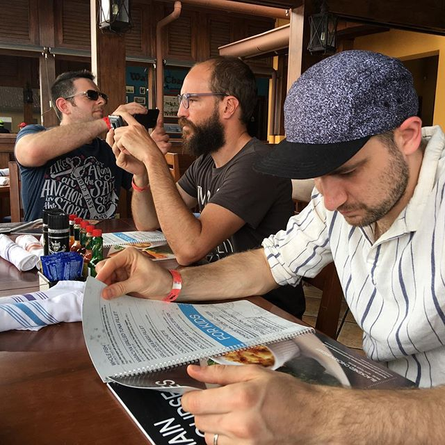 @enejbajgoric, Miguel, and Michael at lunch yesterday