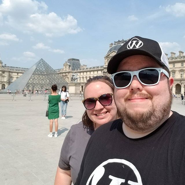 Sara and I at the Louvre.