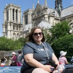 Sara with Notre Dame in the background