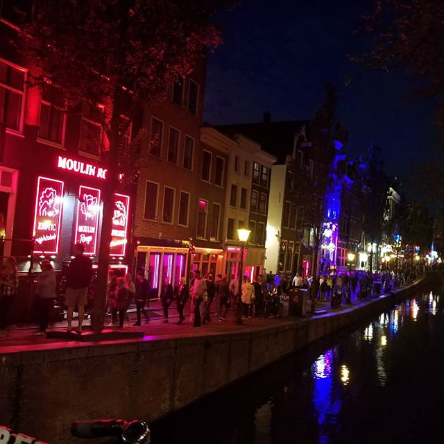 On the edge of the red light district