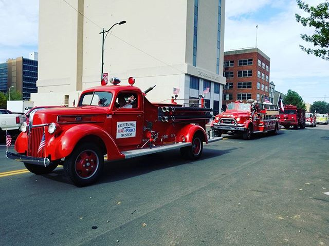 Fire trucks at the Veteran's Day parade